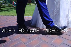 stabilizer, legs close-up, bride and