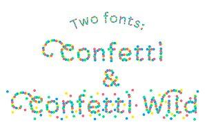 Confetti font