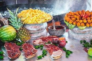 Delicious tasty street food