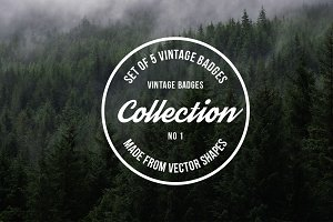 Vintage Logo Badges Collection