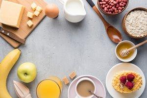 Healthy Breakfast Cheese Juice