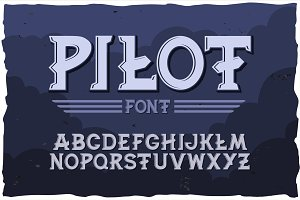 Vector typeface Pilot. Modern style