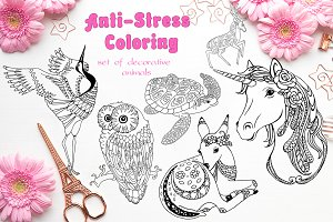 20% OFF! Anti-stress coloring