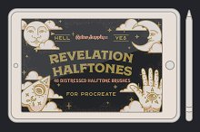 Revelation Halftones for Procreate  by  in Brushes