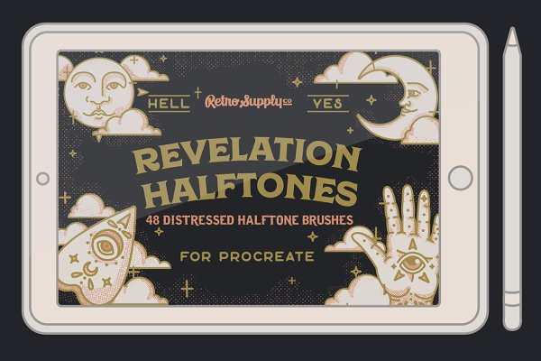 Add-Ons: RetroSupply Co. - Revelation Halftones for Procreate