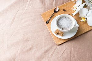Cozy composition with a Cup of