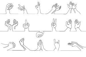 Hand gestures bundle