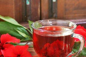Red karkade hibiscus red sorrel tea