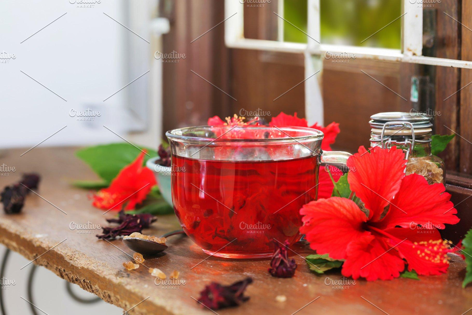 Red Karkade Hibiscus Red Sorrel Tea Food Drink Photos Creative