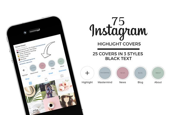 New!  Instagram Highlight Covers