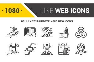 1080 Line Web Icons