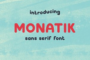 Monatik - sans serif font