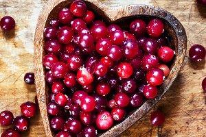 Ripe juicy fresh cranberries in Mosc
