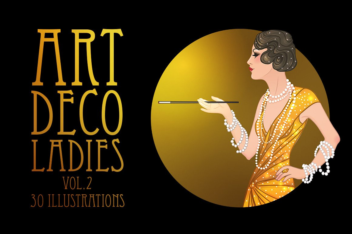how to draw art deco style