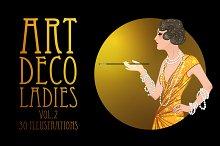 Art Deco Girls Illustrations Vol. 2