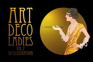 Art Deco Girls Illustrations Vol. 2
