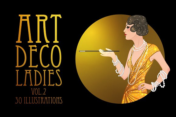 Art Deco Girls Illustrations Vol. 2 - Illustrations