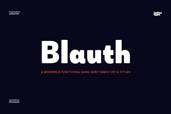 Sans Serif Fonts: Latinotype - Blauth - Intro Offer 71% off