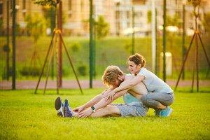 Young in love heterosexual Caucasian