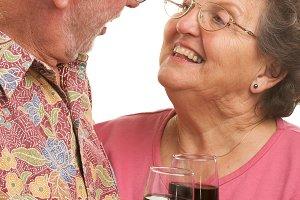 Happy Senior Couple Toasting