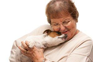 Happy Attractive Senior Woman with P