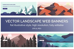 Vector Landscape Web Banners