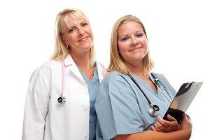 Two Friendly Doctors or Nurses