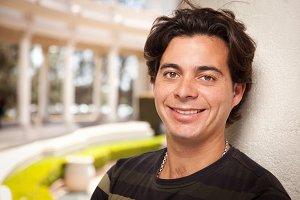 Handsome Hispanic Young Adult Man