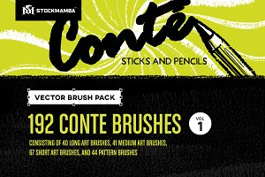 Conté Vector Brush Pack