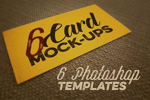 6 Card Mockups - Retro/Vintage Style