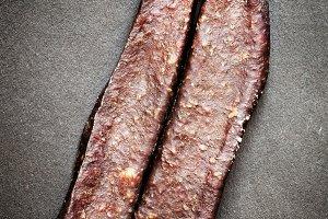 Traditional Armenian beef jerky smok