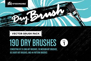 Dry Brush Vector Brush Pack