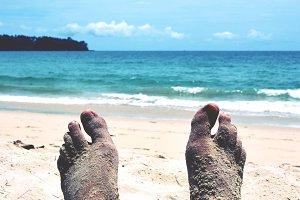 Legs, Beach and Ocean