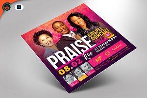 Praise Gospel Concert Flyer Template