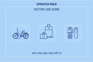 Travel Line Icons - version 2.0