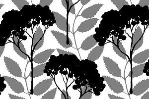 Rowan ash seamless pattern vector