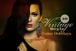 20 Vintage Style Color Overlays