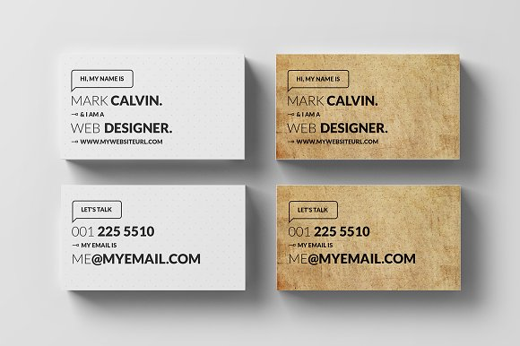 Simple Individual Business Card Business Card Templates - Single business card template