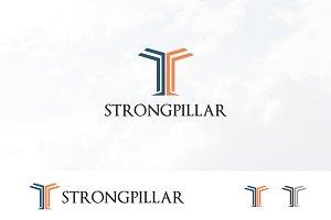 T Letter Strong Pillar Logo