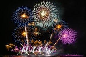 Fantastic Multicolor Firework Celebr