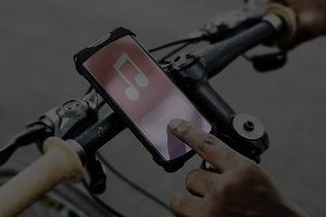 Music application device on a bike