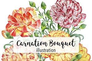 Florals: Carnation Flower Bouquet