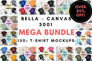 Bella Canvas 3001 Mega Bundle Mockup