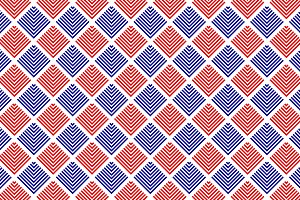 Red blue Striped rhombus geo pattern