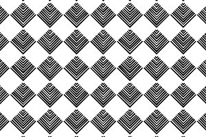 Striped black and white geo pattern
