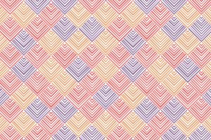Pastel striped rhombus geo pattern