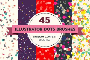 45 Illustrator Dots Brushes
