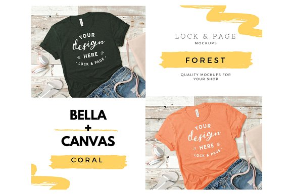 43a1649f72a778 Bella Canvas 3001 Mega Bundle Mockup ~ ~ Creative Daddy