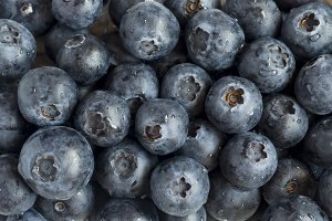 Background of ripe blueberries with