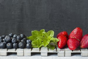 Fresh berries strawberries